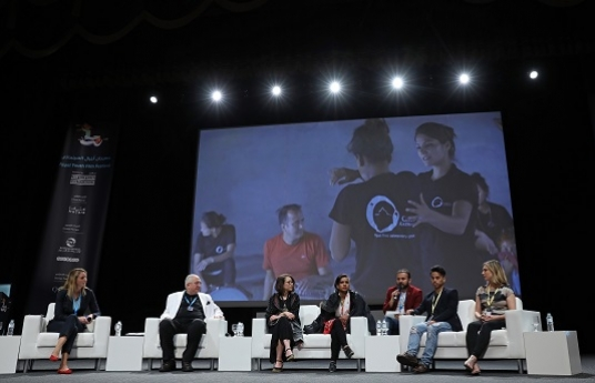Third Ajyal Talk covers child trafficking in the presence of two